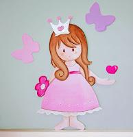 silueta de madera infantil princesa babydelicatessen