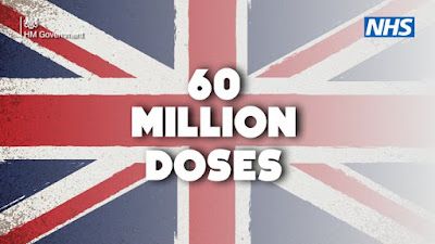 230521 60m COVID vaccine doses test over union flag