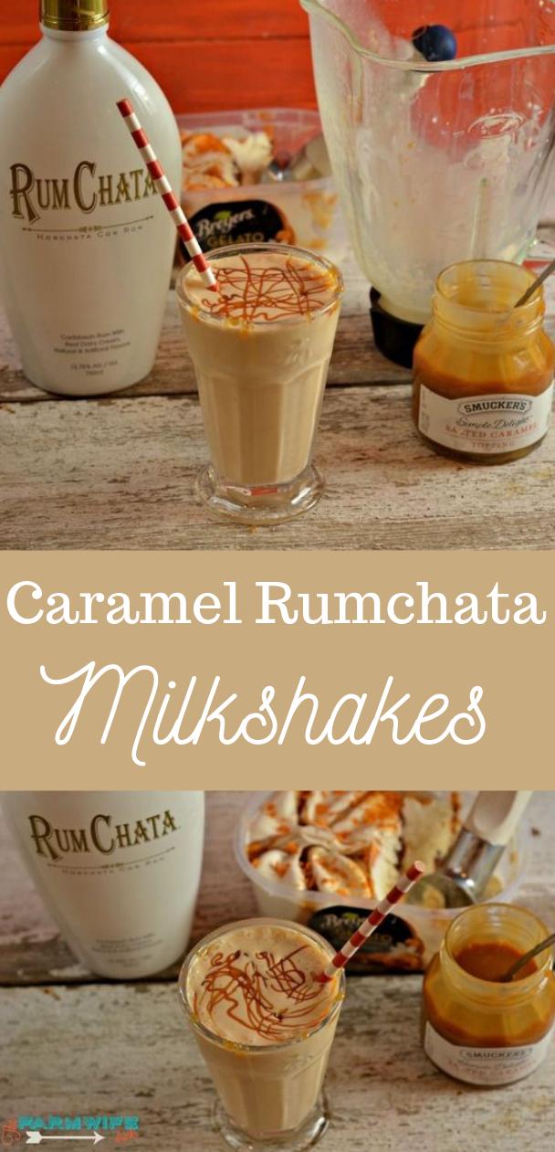 CARAMEL RUMCHATA MILKSHAKE #caramel #drink
