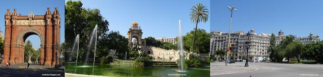 Viaje a Barcelona: Arco del triunfo, fuente monumental del parque de la ciudadela, edificios decimonónicos