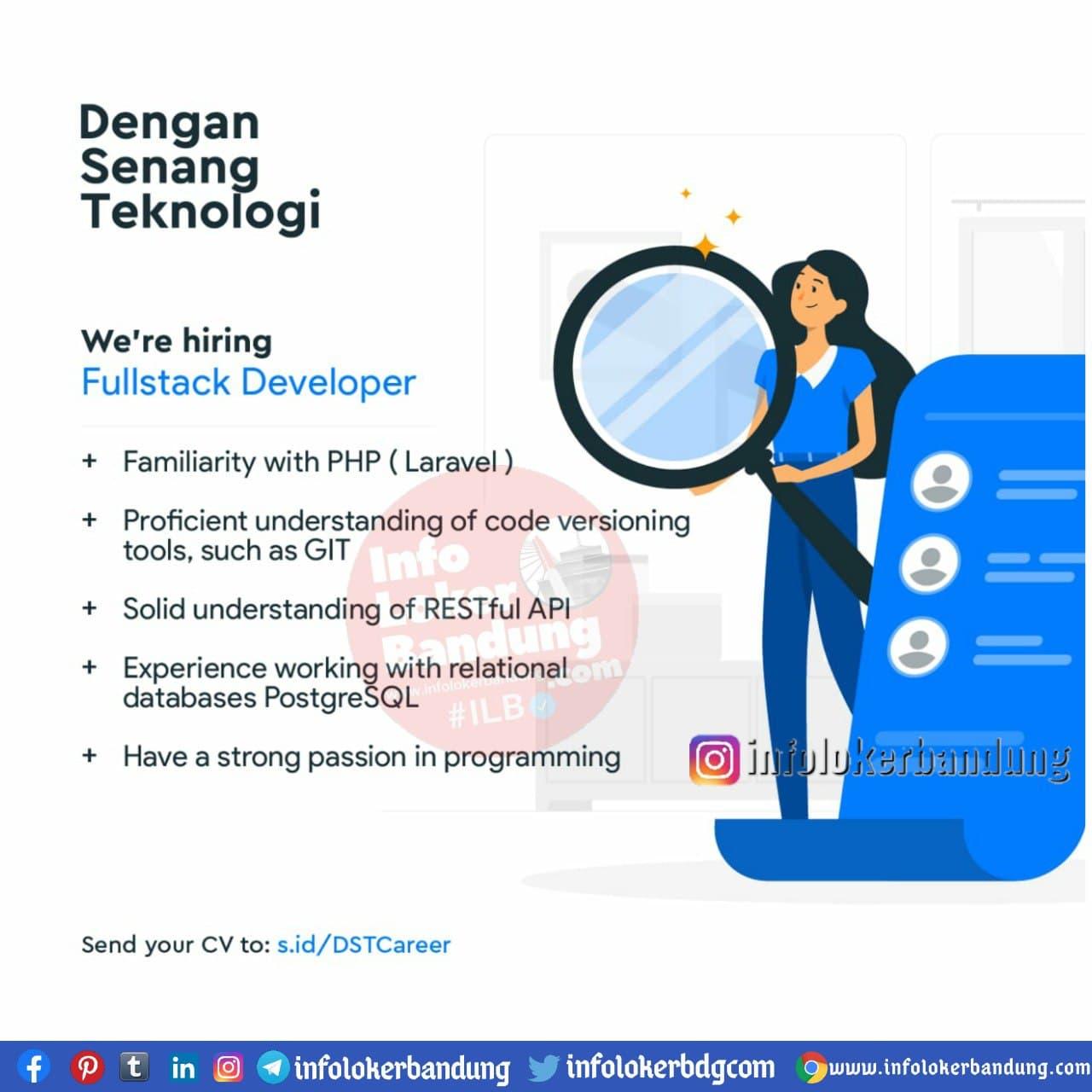 Lowongan Kerja Dengan Senang Teknologi Bandung November 2020