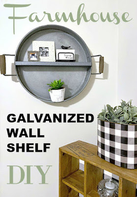DIY Farmhouse Shelf from a Tray