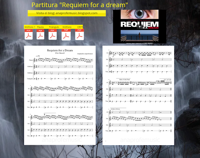 partitura anaprofemusic requiem for a dream