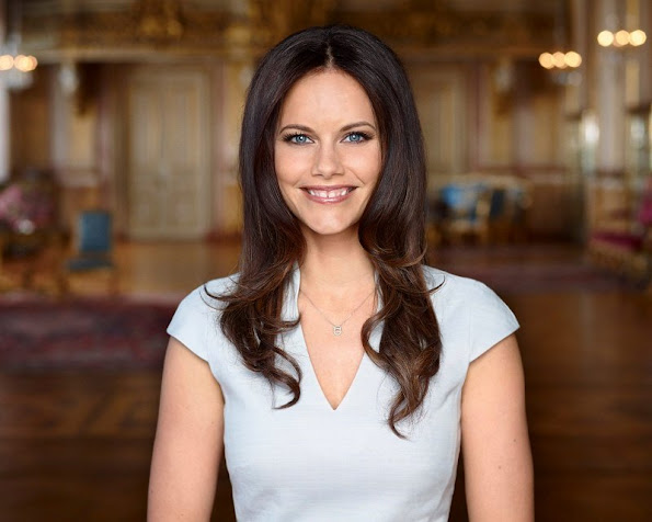 Princess Sofia Kristina Hellqvist birthday, wore Reiss Dress, diamond earrings, fashion style