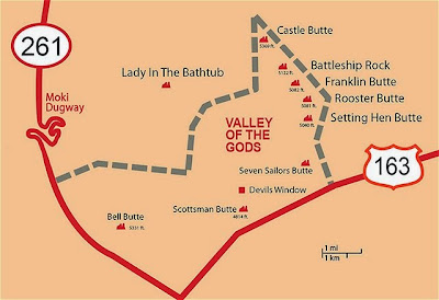 valley gods utah map