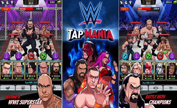 WWE Tap Mania MOD APK Lots Of Money Game Download