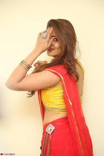 Actress Ashwini in Golden choli Red saree Spicy Pics ~  082.JPG