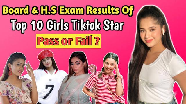 Tiktok Top 10 Girls Star Board Exam Results | Jannat zubair | Avneet Kaur