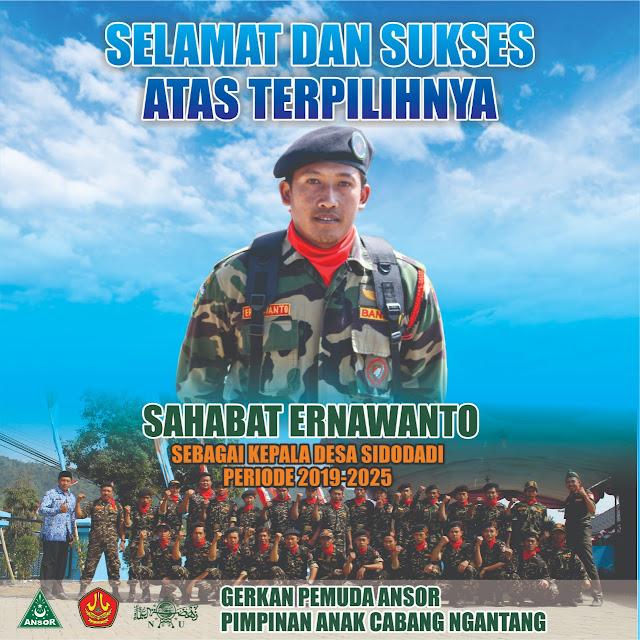 Bermodal Sandal Jepit, Komandan Banser Kalahkan Petahana Dalam Pilkades