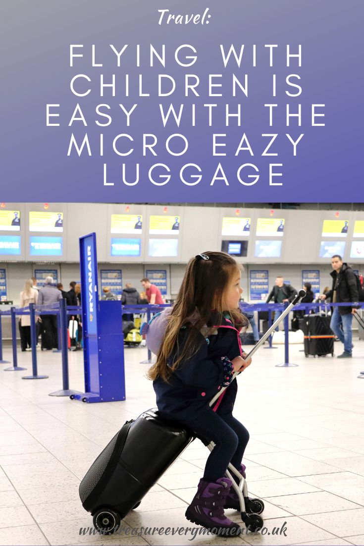 Flying with children is easy with the Micro Eazy Luggage