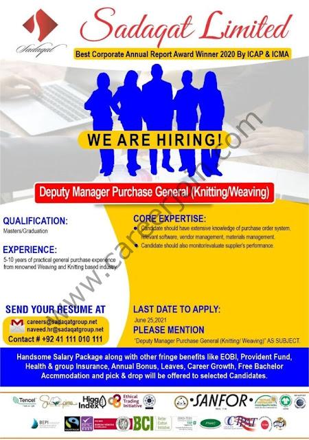 Sadaqat Ltd Jobs June 2021