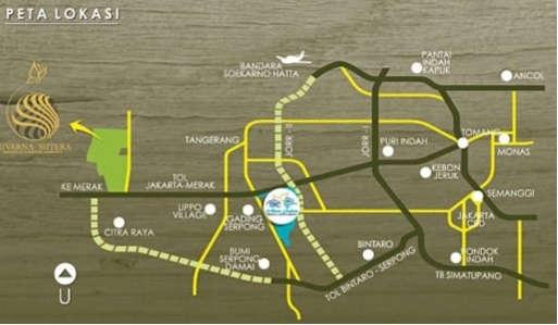 Peta Lokasi Suvarna Sutera Tangerang