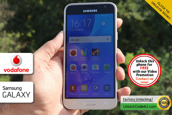 Factory Unlock Code Samsung Galaxy J3 from Vodafone