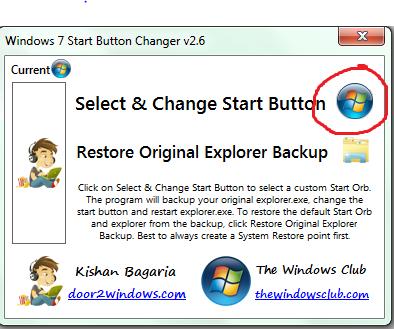 Cara Mengubah Tema dan Icon Start Menu ( Start Orb ) di