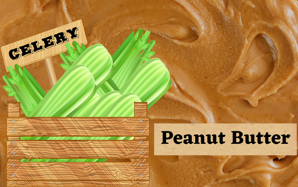 Calories in celery and peanut butter