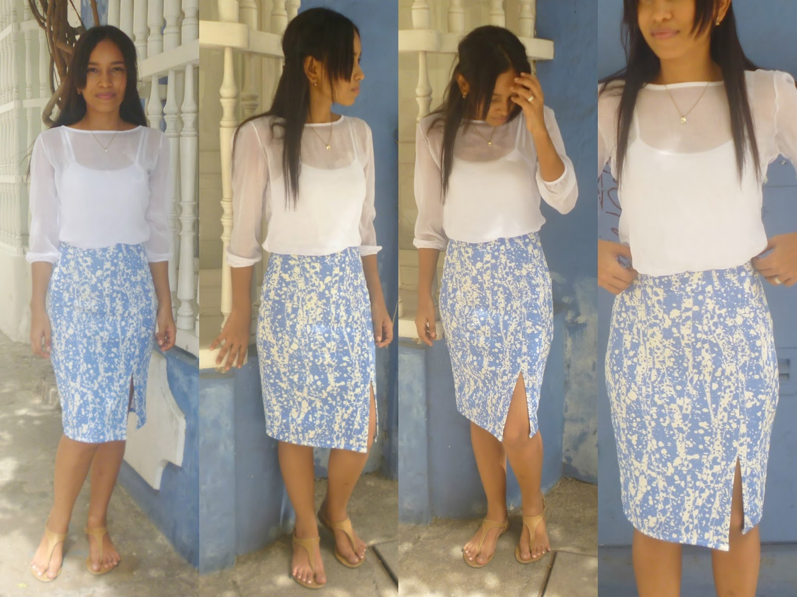YLCTheOnly: Video | Pencil skirt / Falda tubo con abertura delantera ...