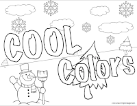 My SLO For Second Grade Is About Color Theory I Created Warm And Cool Coloring Pages Graders To Use As An Extension Easily Allow Me