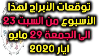 توقعات الأبراج لهذا الأسبوع من السبت 23 الى الجمعة 29 مايو ايار 2020