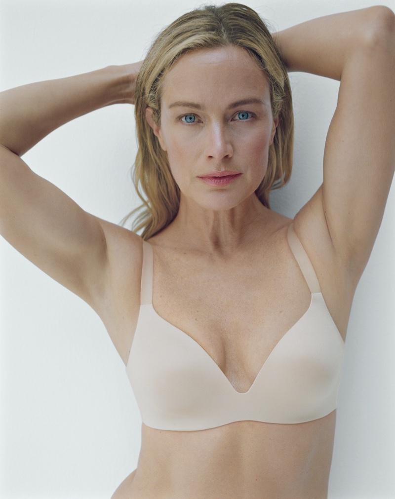 Carolyn Murphy strikes a pose in Victoria's Secret VS Bare Infinity Flex campaign.