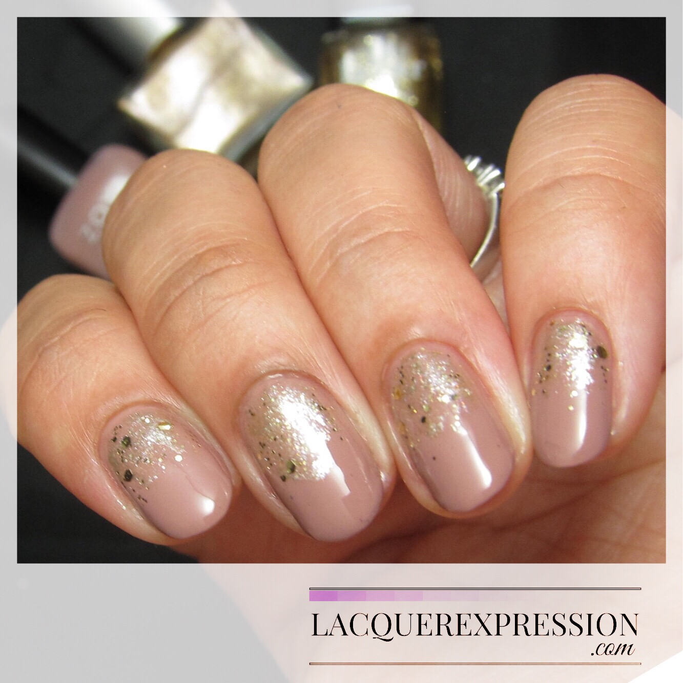 Step-by-Step Nail Art Thursday - Gold Glitter Gradient Over Neutral ...