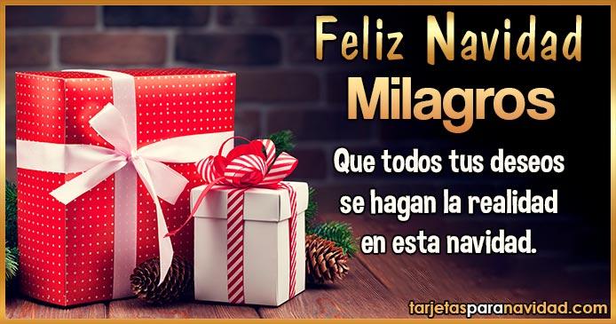 Feliz Navidad Milagros