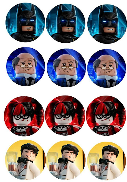Batman Lego Free Printable Cupcake Toppers or Labels.