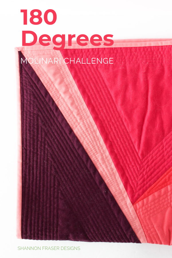 180-Degrees Quilt | Q4 Finish-a-Long Proposed Projects | Shannon Fraser Designs #modernquilt