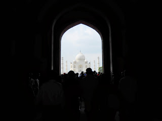 Taj Mahal view from entry gate