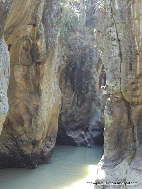 El cañón visto desde el primer escape - Azul Turquesa