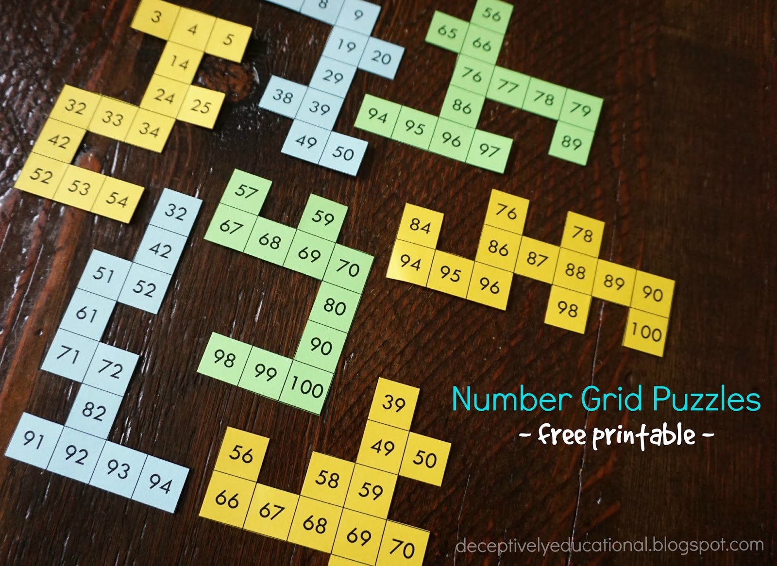 photo about Number Grid Printable referred to as Relentlessly Pleasurable, Deceptively Enlightening: Amount Grid