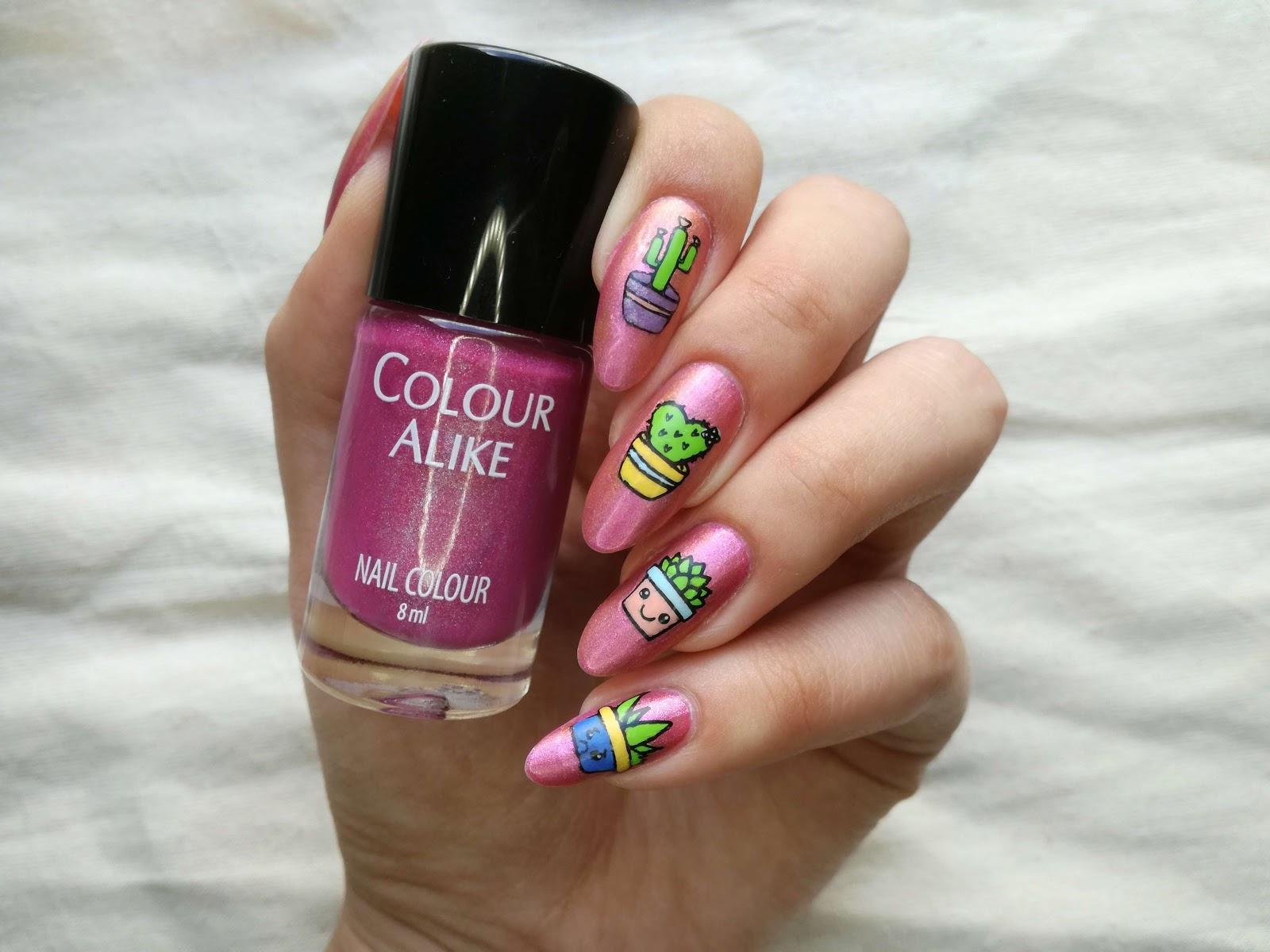colour alike różowe paznokcie