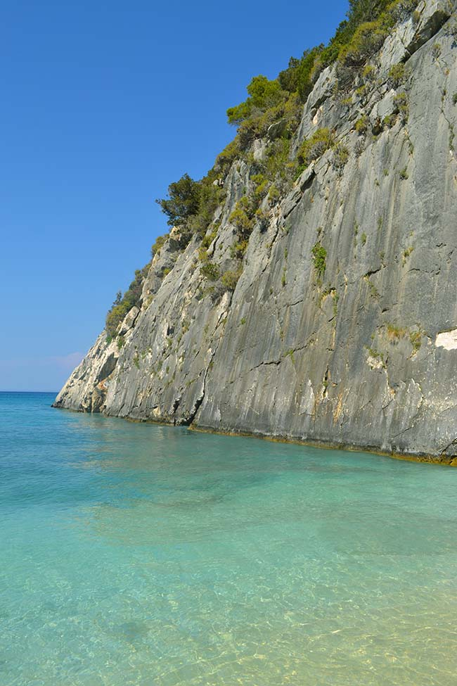 Il mare di Xygia beach