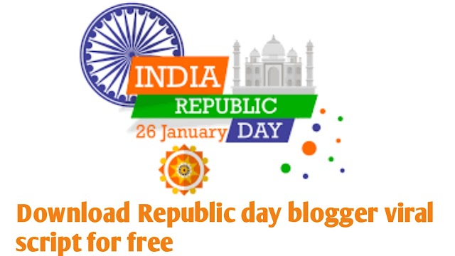 26th January 2020 Happy Republic Day WhatsApp Viral Free Wishing Website HTML Blogger Script