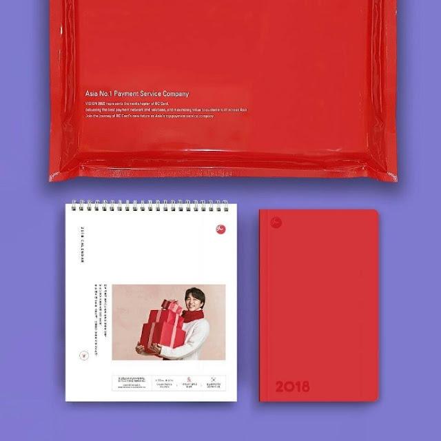 孔劉-2018-BC card-筆記本-年曆