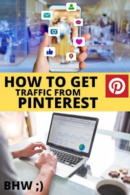 mendapatkan trafik blog dari pinterest