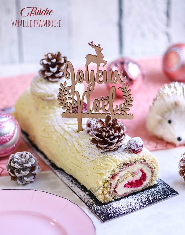 buche chocolat blanc framboise