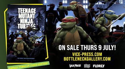 Teenage Mutant Ninja Turtles 1990 Movie Poster Screen Print by Florey x Bottleneck Gallery x Vice Press