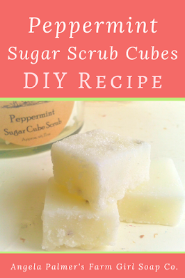 Learn to make peppermint sugar scrub cubes with this easy DIY recipe. These peppermint sugar scrub cubes make sweet DIY Christmas gifts.