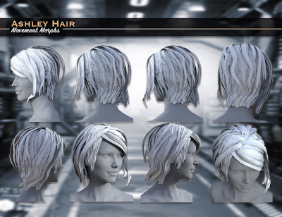 Ashley Hair for Genesis 3 Female