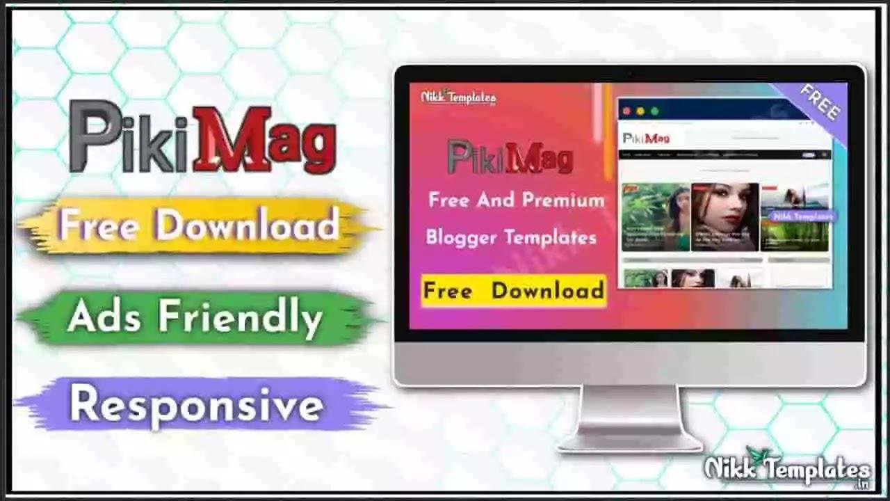 Piki Mag - Magazine Blogger Template - Nikk Templates