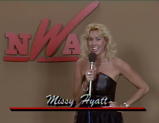 NWA Starrcade 1987 - Missy Hyatt said she was there to do interviews but never appeared again