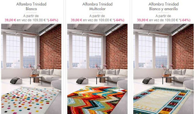 alfombras graficas y multicolor