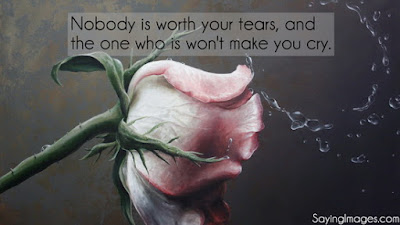 quotes on life and best girlfriend: nobody is worth your tears