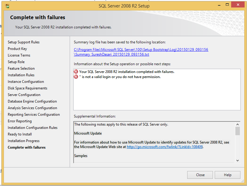 SQL Server 2008 r2 - It is not a Valid Login or You do not