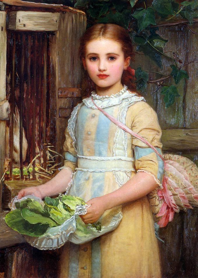 Portrait of Agnes Pheobe Burra, Kate Dickens Perugini