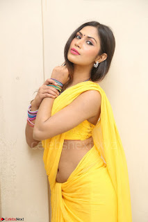 Nishigandha in Yellow backless Strapless Choli and Half Saree Spicy Pics 109.JPG