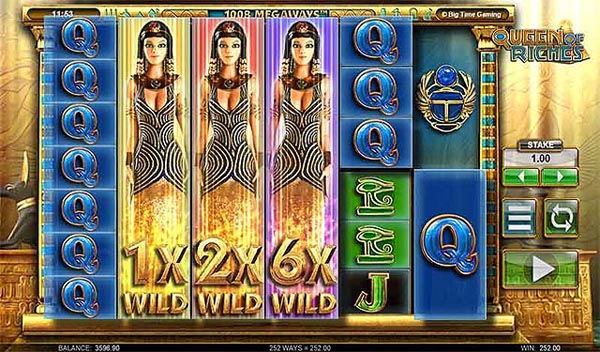 Main Gratis Slot Indonesia - Queen of Riches Megaways (Big Time Gaming)
