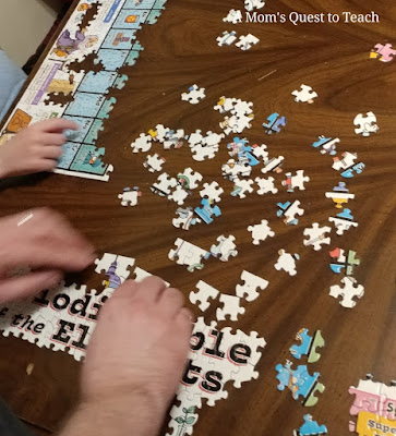 putting together a puzzle