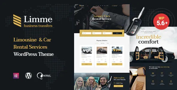 Best Limousine Transfers WordPress Theme