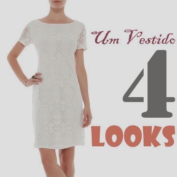 Aproveitando melhor o seu guarda-roupa: Um vestido off white, 4 looks